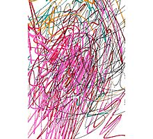 Pink Scribble (Gym) Photographic Print