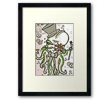 Steampunk Cthulhu  Framed Print