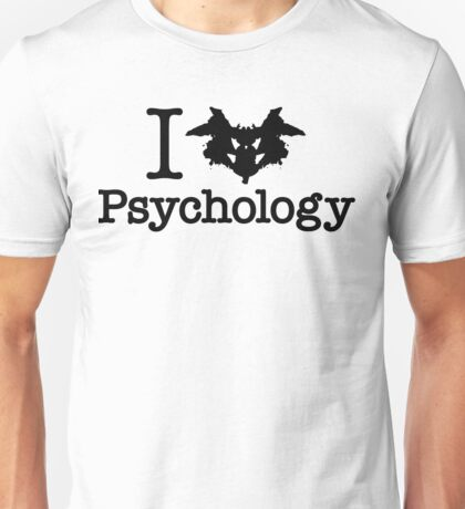 I Heart (Rorschach Inkblot) Psychology Unisex T-Shirt