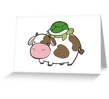 Cow and Turtle Greeting Card