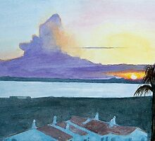 Sunset, Alvor, Algarve by John Rees by HurstPainters