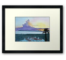 Sunset, Alvor, Algarve by John Rees Framed Print