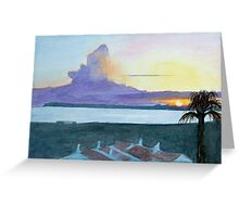 Sunset, Alvor, Algarve by John Rees Greeting Card