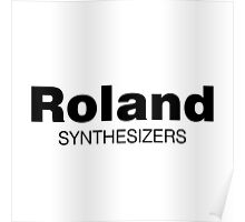 Roland Synthesizer (Black) Poster