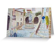 St Paul de Vence by John Rees Greeting Card