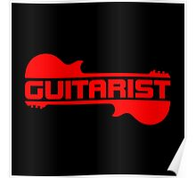 Guitarist ( Red) Poster