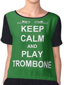 Play Trombone (White) Chiffon Top