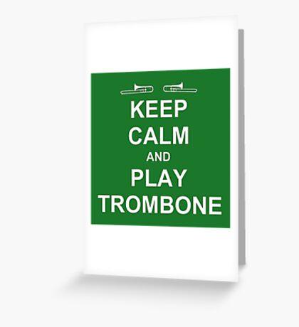 Play Trombone (White) Greeting Card
