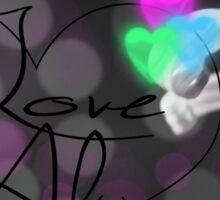 Love Always Black and White with Neon Sticker