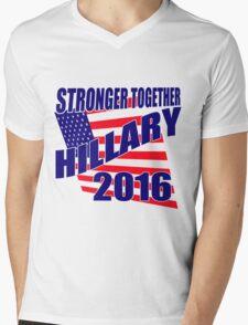 STRONGER TOGETHER HILLARY Mens V-Neck T-Shirt