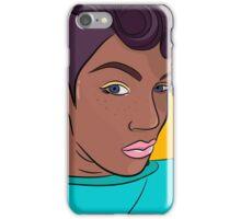 Mulatto girl vector print iPhone Case/Skin