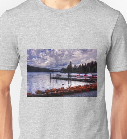 Boats at Bowness Unisex T-Shirt
