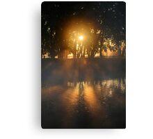 Hazy River Sunrise Canvas Print