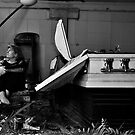 Self Portrait, Abandoned Funeral Home by kailani carlson