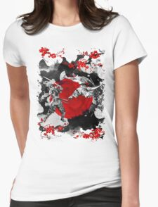 Samurai Fighting Womens Fitted T-Shirt