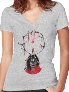 Boazunieida Women's Fitted V-Neck T-Shirt
