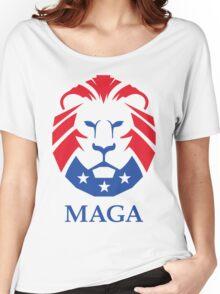 MAGA Lion   HD Women's Relaxed Fit T-Shirt