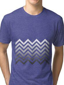 Zig Zag Black and White Tri-blend T-Shirt