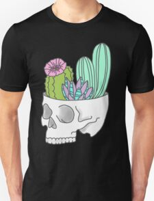 Skull succulent feminist skeleton cactus southwest girly tumblr pastel print Unisex T-Shirt