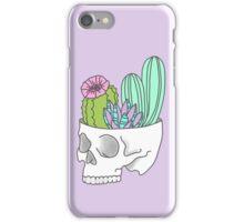 Skull succulent feminist skeleton cactus southwest girly tumblr pastel print iPhone Case/Skin