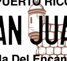 PR License Plate - San Juan   Sticker