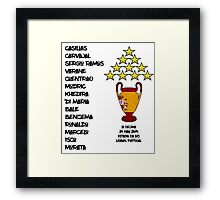 Real Madrid 2014 Champions League Winners Framed Print