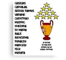 Real Madrid 2014 Champions League Winners Canvas Print