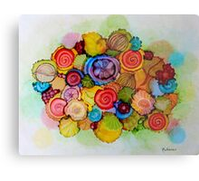 """Lucious"" - Colorful Unique Original Floral Design! Metal Print"