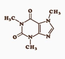Caffeine Molecular Chemical Formula Baby Tee