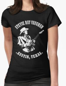 Stevie Ray Vaughan Womens Fitted T-Shirt