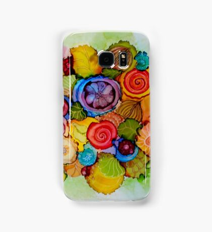 """Lucious"" - Colorful Unique Original Floral Design! Samsung Galaxy Case/Skin"