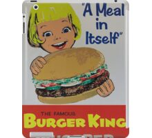 the king of the burger iPad Case/Skin