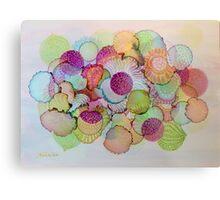 """Delicate"" - Colorful Unique Original Artist's Floral Design! Metal Print"
