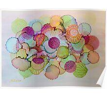 """Delicate"" - Colorful Unique Original Artist's Floral Design! Poster"