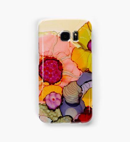 """In Full Bloom"" - Colorful Unique Original Artist's Floral Design! Samsung Galaxy Case/Skin"