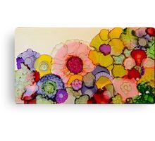 """In Full Bloom"" - Colorful Unique Original Artist's Floral Design! Canvas Print"