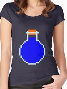 Mana potion (pixel art) Women's Fitted Scoop T-Shirt