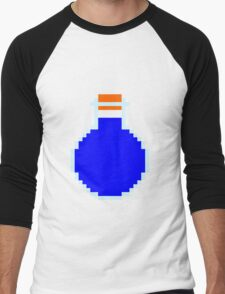 Mana potion (pixel art) Men's Baseball ¾ T-Shirt