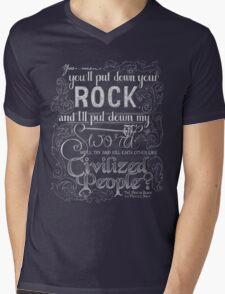 Civilized People Mens V-Neck T-Shirt