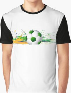 Soccer beautiful texture with brazil colors Graphic T-Shirt