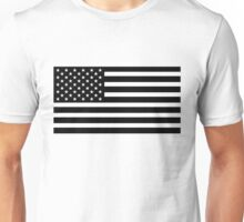 usa black and white Unisex T-Shirt