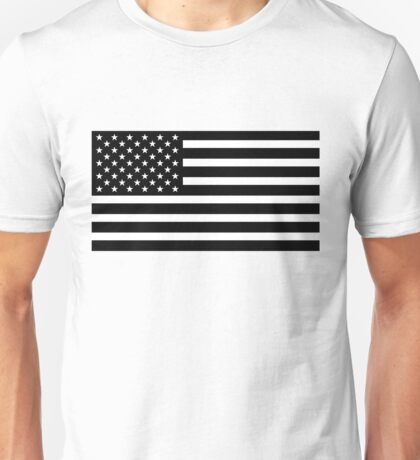 usa black and white Unisex T-Shirt