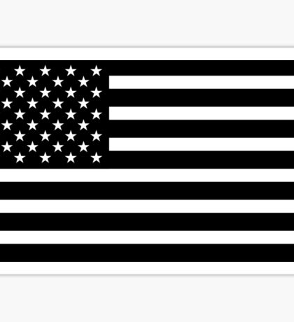 usa black and white Sticker