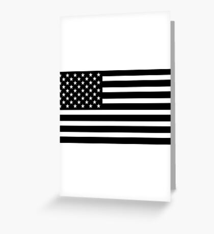 usa black and white Greeting Card