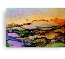 """Molten Mountain Dreams"" - Colorful Unique Original Artist's Landscape! Canvas Print"