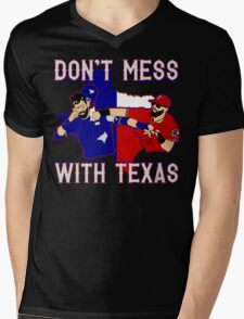 Don't Mess With Texas Mens V-Neck T-Shirt