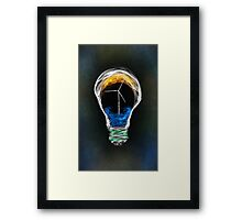 Power of Energy Light Bulb  Framed Print