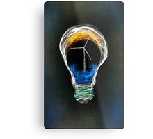 Power of Energy Light Bulb  Metal Print