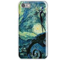 Jack Skellington scary night iPhone Case/Skin