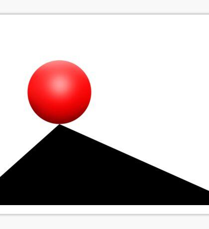 Red Ball 30 Sticker